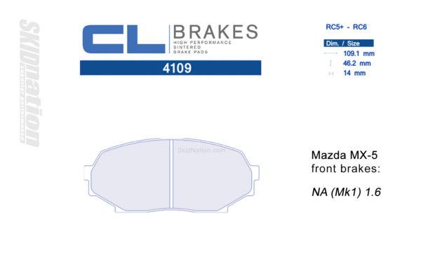 4109RC5+ / RC6 CL Brakes Mazda MX-5 Miata