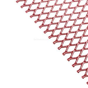 Aluminium wire mesh red