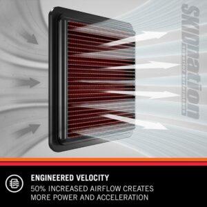 K&N 33-2335 air filter engineered velocity