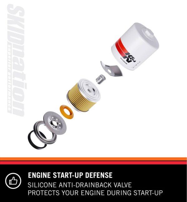K&N HP-1002 oil filter engine start up defense