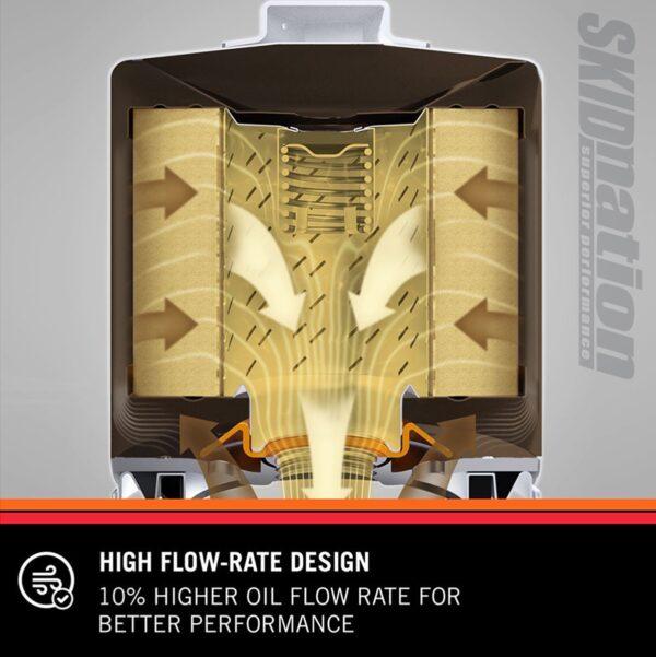 K&N HP-1002 oil filter high flow rate design