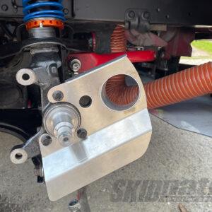 MX-5 brake duct installed side