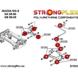 Mazda MX-5 NA rear suspension polyurethane bushings