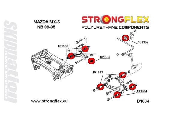 Mazda MX-5 NB rear suspension polyurethane bushings