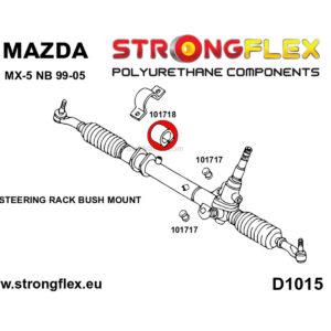 Mazda MX-5 Miata steering rack polyurethane bushing 1