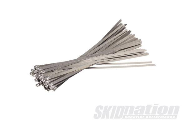 Stainless steel exhaust zip tie