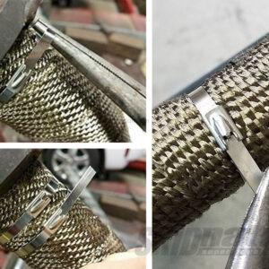 Mazda MX-5 stainless steel exhaust tape zip tie 3
