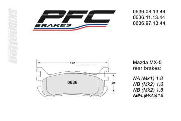 PFC 0636 rear-brake pads Mazda MX-5 Miata